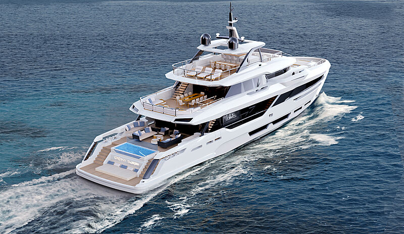 Baglietto DOM133/02 yacht exterior design