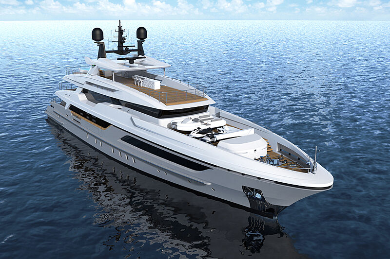 Baglietto 10233 yacht exterior design