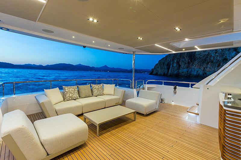 El Guajiro yacht deck
