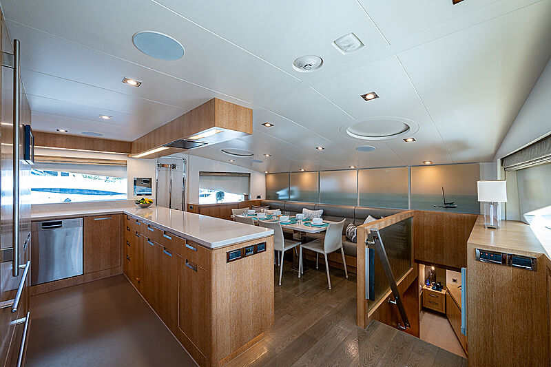 Andrea VI yacht galley