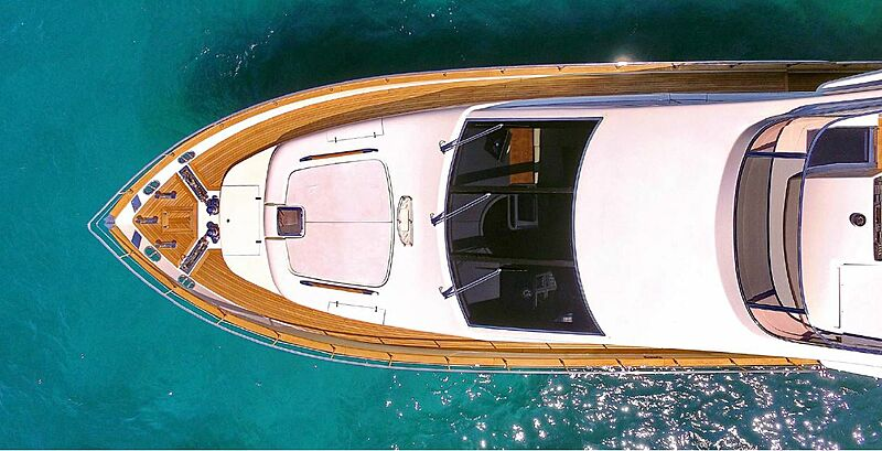 Jana yacht aerial