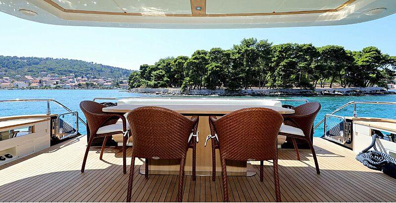 Jana yacht aft deck