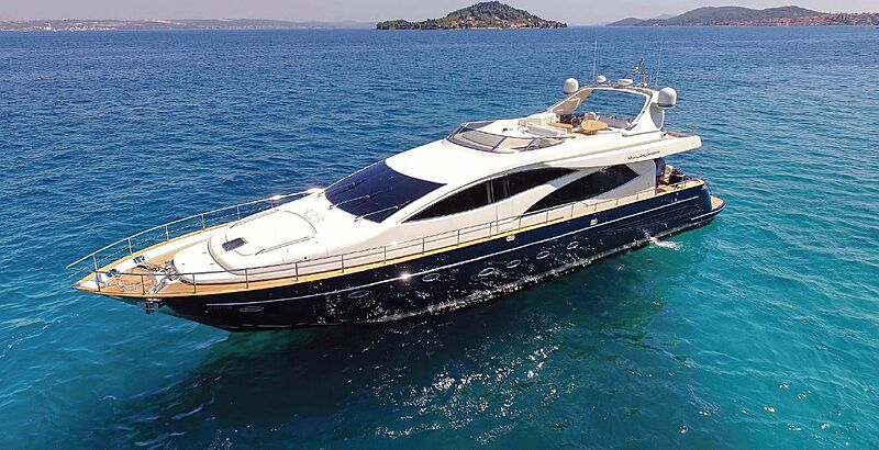 Jana yacht anchored