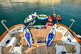Wind of Fortune yacht stern with toys