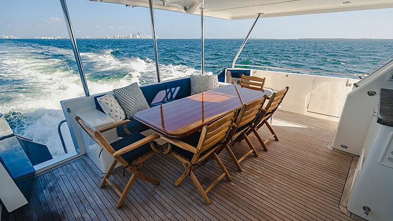 Blue Moon yacht aft deck