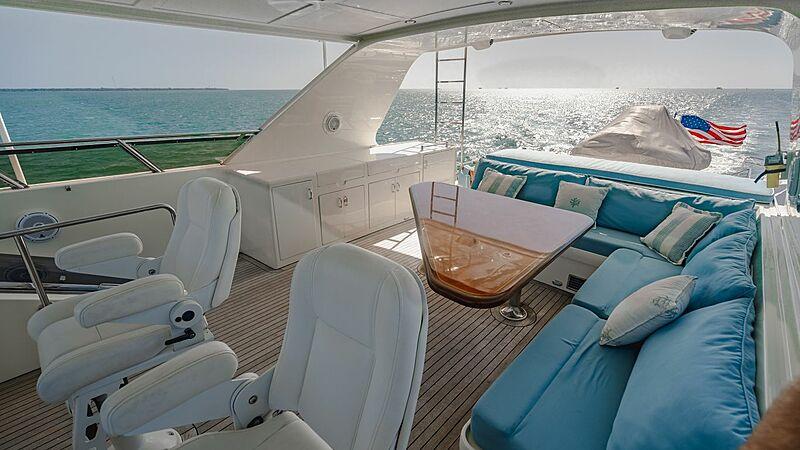 Blue Moon yacht flybridge