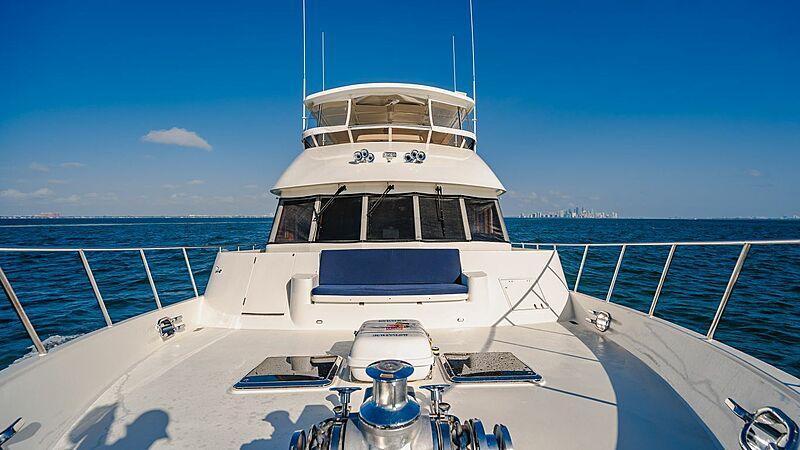 Blue Moon yacht foredeck