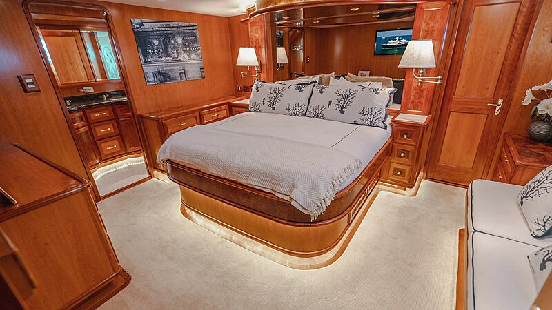 Blue Moon yacht stateroom