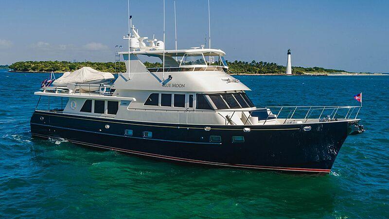 Blue Moon yacht anchored