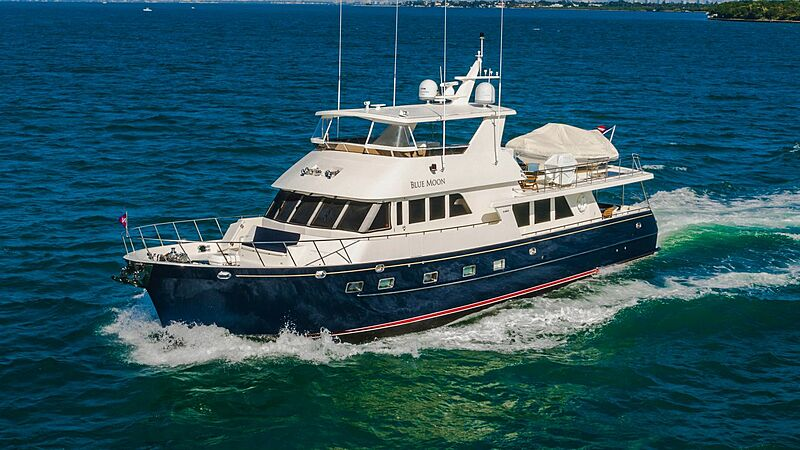 Blue Moon yacht cruising