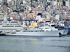 Christina O yacht at Perama shipyard