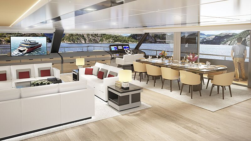Spaceline 100 catamaran yacht concept interior design