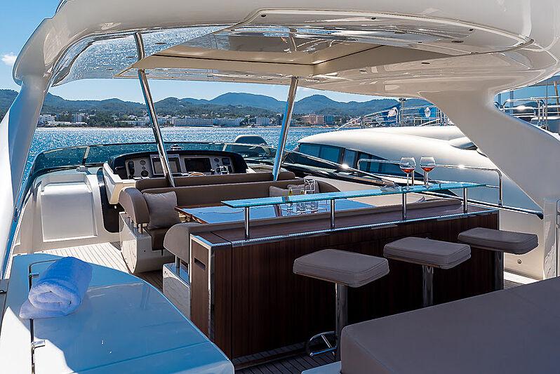 Cobana yacht upper deck