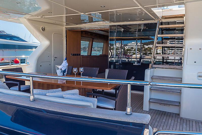 Cobana yacht aft deck