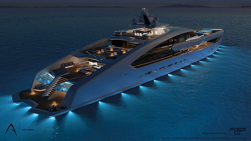 Project Comete yacht by the A Group Design