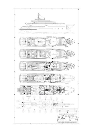 Riva 50MT #3 yacht General arrangement