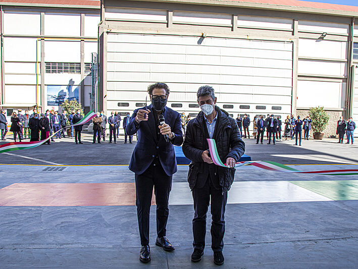 The Italian Sea Group new building shed opening ceremony