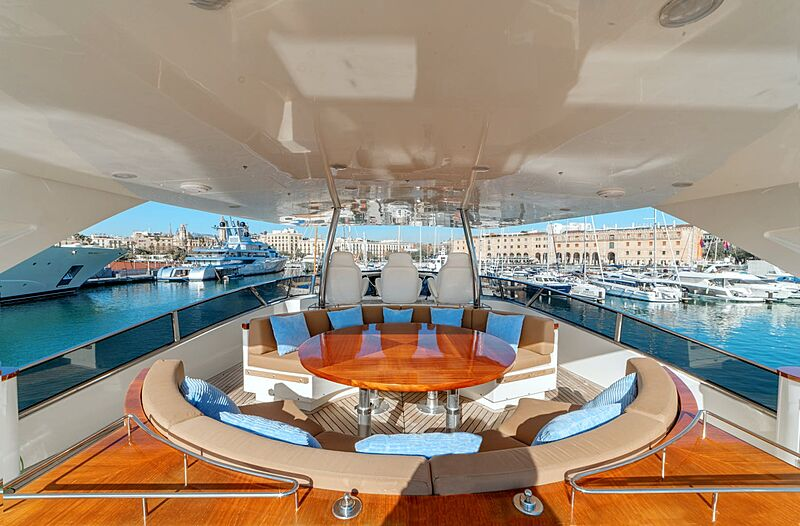 Rochade yacht flybridge