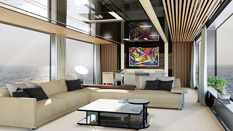 Falcon Legacy 40m yacht interior design