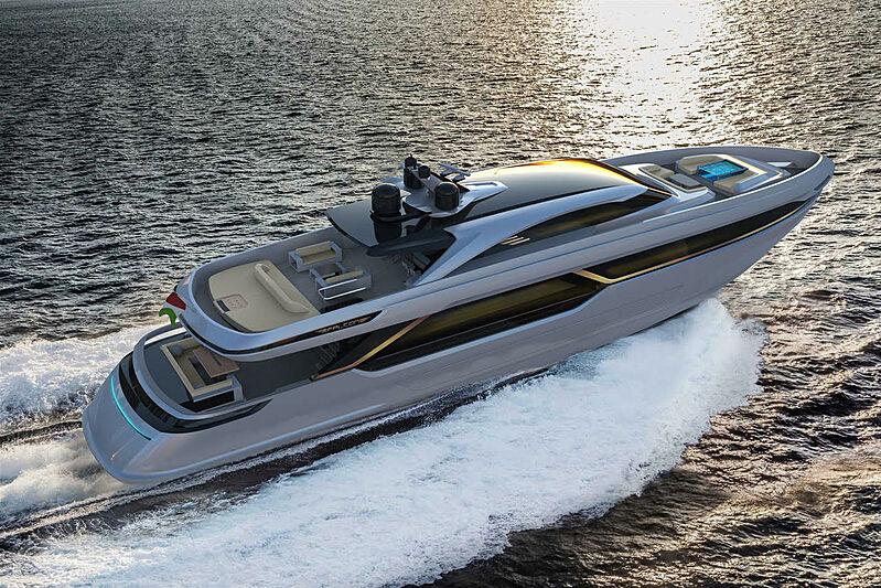 Falcon Legacy 40m yacht exterior design