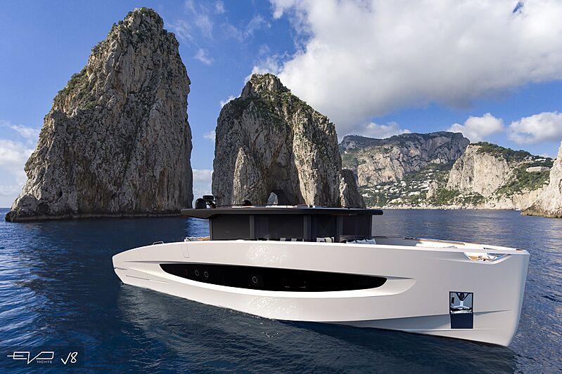 EVO V8 yacht exterior design