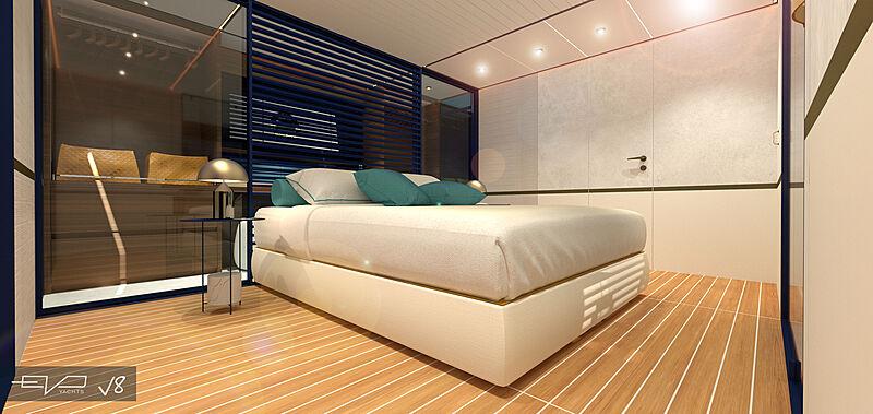 EVO V8 yacht stateroom