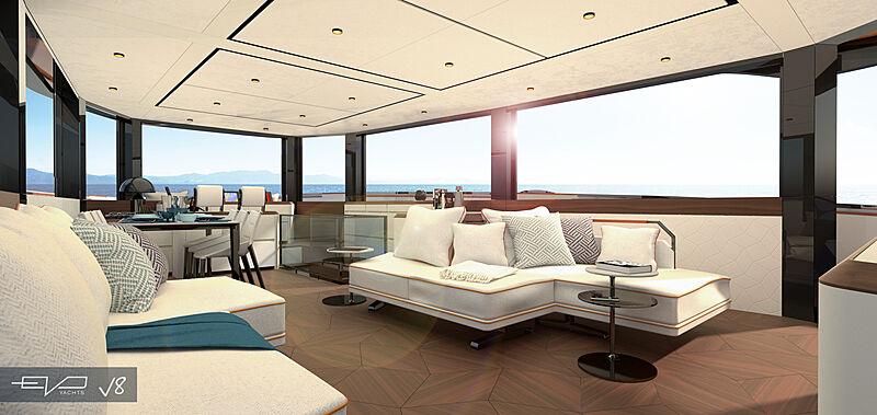EVO V8 yacht interior design