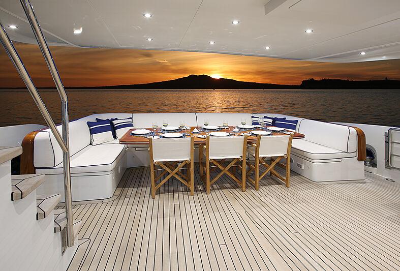Mahalo yacht aft deck