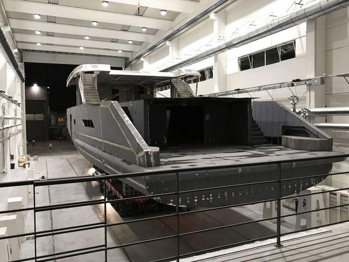 K42 in build at Cantiere delle Marche in Ancona