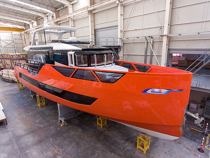 Sarp XSR85/01 yacht in build at Sarp Yachts