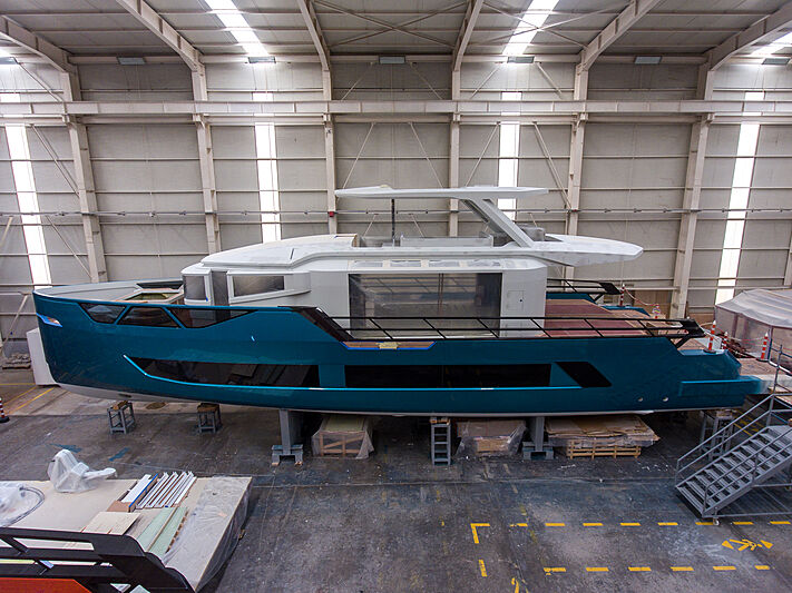Sarp XSR85/02 yacht in build at Sarp Yachts