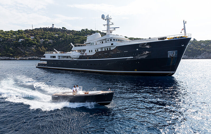 Legend yacht at anchor