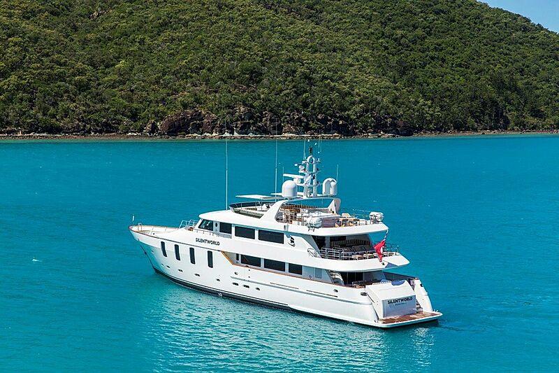 Silentworld yacht at anchor