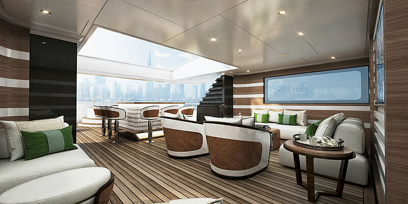 Majesty 175 yacht interior design