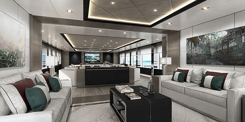 Majesty 175 yacht interior design