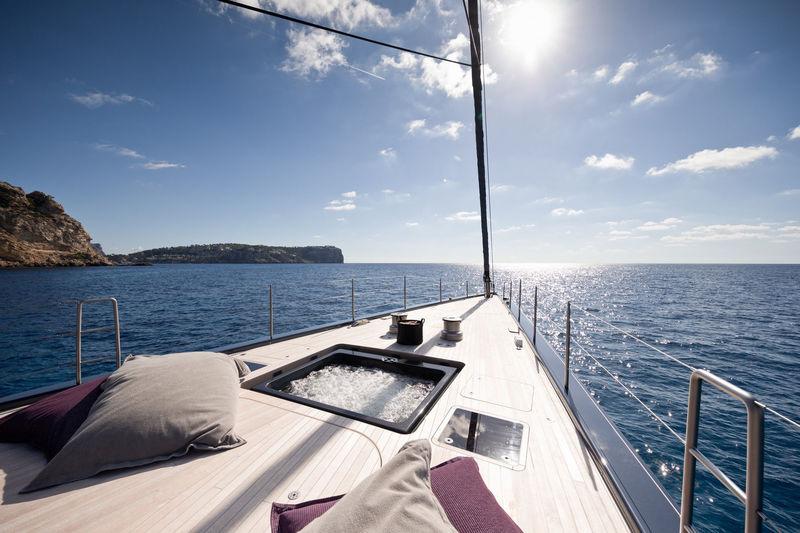 Ngoni yacht foredeck