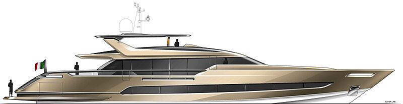 Baglietto Superfast 41m yacht exterior design