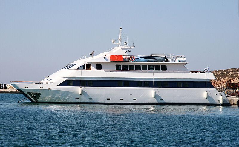 Aegean Princess yacht in marina