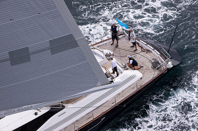 Second day of the NZ Millennium Cup superyacht regatta