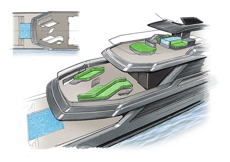 Isola yacht exterior design