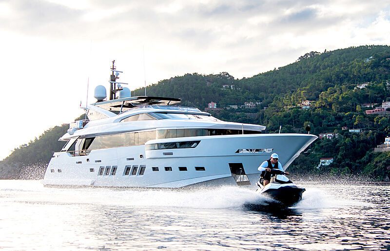 Soulmate yacht anchored with toys