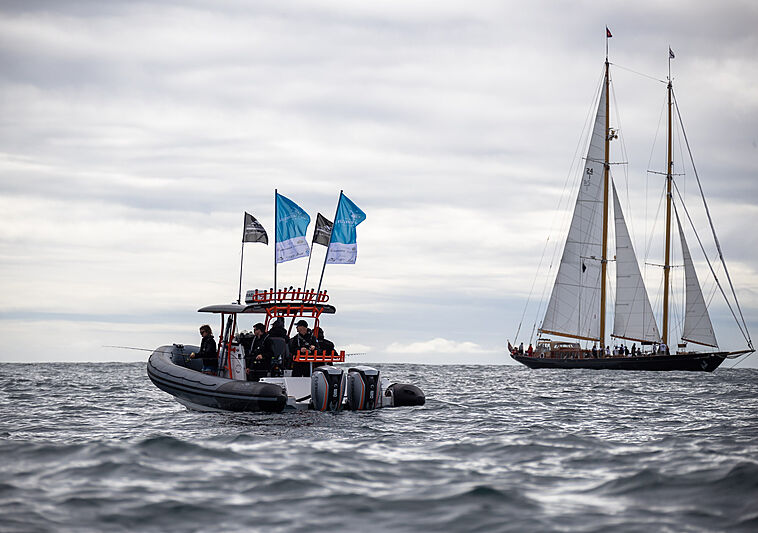 Last day of the NZ Millennium Cup superyacht regatta