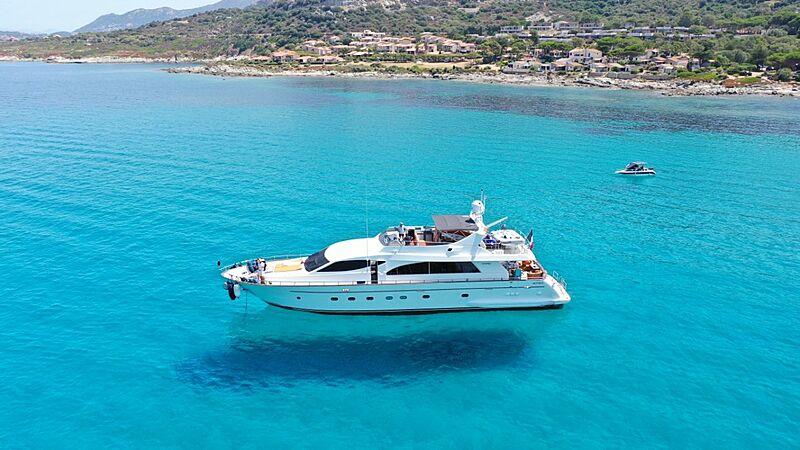 Baron B yacht anchored