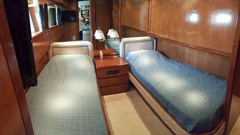 Baron B yacht stateroom