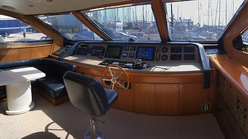 Baron B yacht wheelhouse