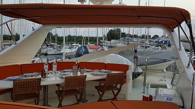 Baron B yacht upper deck