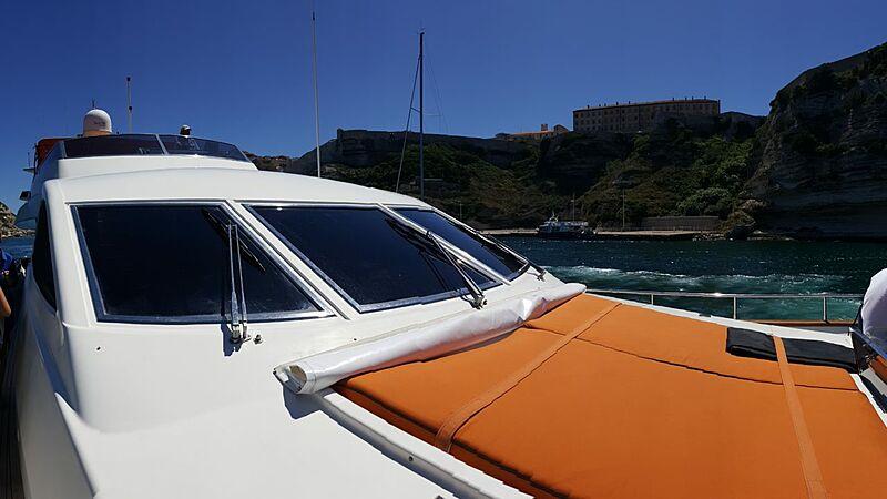 Baron B yacht foredeck