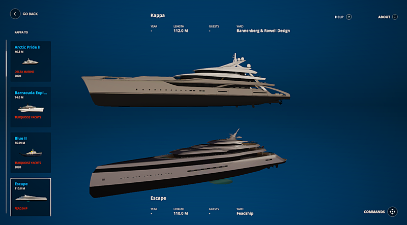 SYT 3D compare yachts