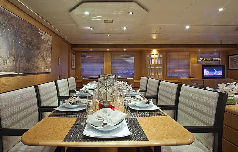 Criss C yacht dining