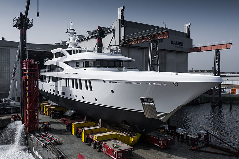 Amels 200-02 yacht launch